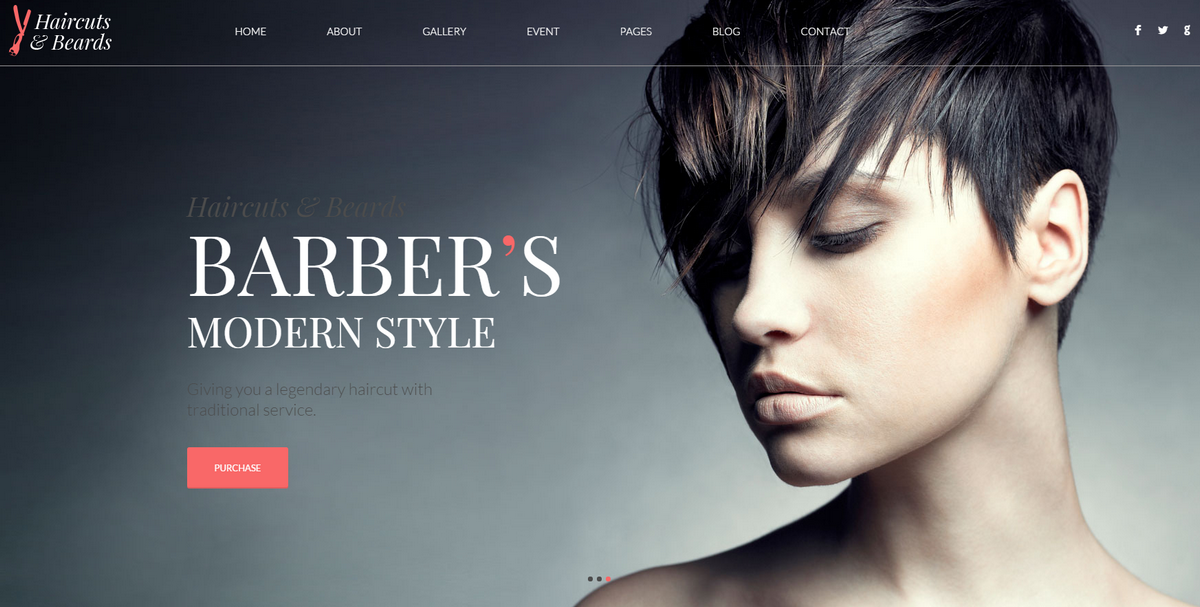 Your Barber   Barbershop Website Design Idea | Unique Net Designs | Custom  Website Design | Unique Website Designs