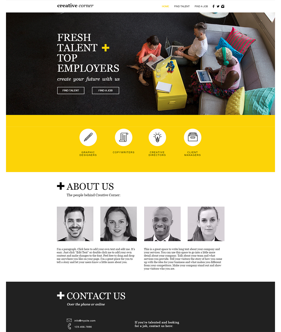 creative team creative team web design idea - Web Page Design Ideas